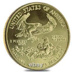 1/2 Oz Gold American Eagle Abrasions (année Aléatoire)