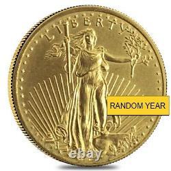 1/4 Oz D'écorchures Gold American Eagle (année Aléatoire)