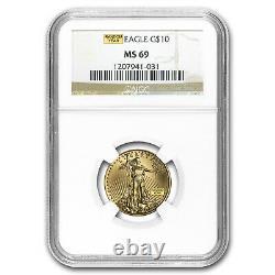 1/4 Oz D'or American Eagle Ms-69 Ngc (année Aléatoire) Sku # 83502