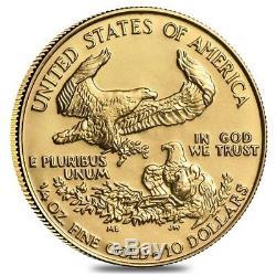 1/4 Oz D'or American Eagle Pièce De 10 $ Bu (random Année)