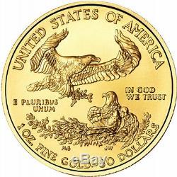 1 Oz Américaine Gold Eagle Coin (varié Année, Bu)