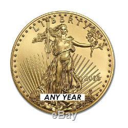 1 Oz American Eagle 50 $ Pièce D'or Au Hasard Année Us Mint American Gold Eagle 1 Oz