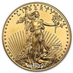 1 Oz D'or American Eagle 50 $ Coin Bu Aléatoire Année Us Mint