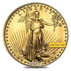1 Oz D'or American Eagle 50 $ Coin (abrasions, Aléatoire Année)