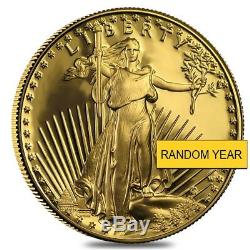1 Oz D'or American Eagle 50 $ Proof Coin À Cap (random Année)