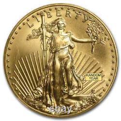 1 Oz D'or American Eagle Ms-69 Ngc (année Aléatoire) Sku # 83482