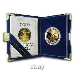 1 Oz D'or American Eagle Proof (random Année, Withbox & Coa) Sku # 59248