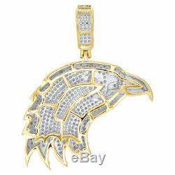 10k Or Jaune Diamant Plus De American Eagle Oiseaux Pendentif Charm Mens Pave 1.55