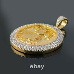 14k Or Jaune Massif Sur Pendentif De Montage De Diamants American Eagle Liberty Coin