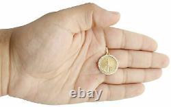 14k Or Jaune Sur Pendentif De Montage De Diamants American Eagle Liberty Coin