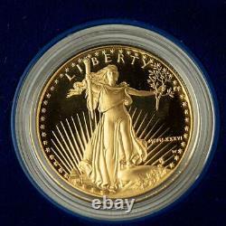 1986 50 $ Gold Eagle Proof Strike Première Année D'émission De La Pièce D'or Ogp #a310