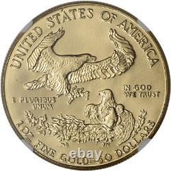 1986 Aigle D'or Américain (1 Oz) 50 $ Ngc Ms69