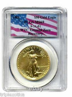 1986 Pcgs Ms69 Wtc Recovery $50 Gold Eagle Very Rare Only One Sur Ebay