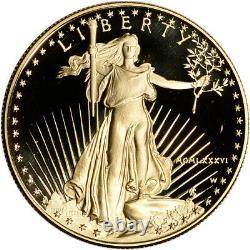 1986-w American Gold Eagle Proof 1 Oz $50 Pièce En Capsule