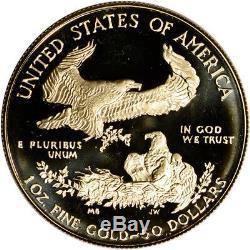 1986-w Preuve Américaine Gold Eagle (1 Oz) 50 $ Ogp