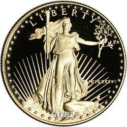 1987-p Preuve Américaine Gold Eagle (1/2 Oz) 25 $ En Ogp