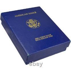 1987-w Américaine Gold Eagle Proof 1 Oz 50 $ Ogp