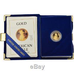 1988-p Preuve Américaine Gold Eagle (1/10 Oz) 5 $ En Ogp