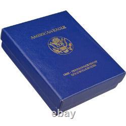 1989-p American Gold Eagle Proof (1/10 Oz) 5 $ En Ogp