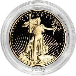 1989-p American Gold Eagle Proof 1/2 Oz $25 Pièce En Capsule