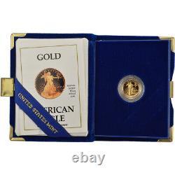 1990-p American Gold Eagle Proof (1/10 Oz) 5 $ En Ogp