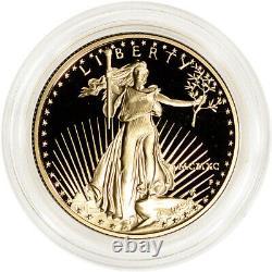1990-p American Gold Eagle Proof 1/2 Oz $25 Pièce En Capsule