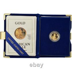 1991-p American Gold Eagle Proof (1/10 Oz) 5 $ En Ogp