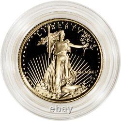 1991-p American Gold Eagle Proof 1/4 Oz 10 $ Pièce En Capsule