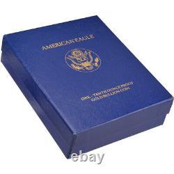 1992-p American Gold Eagle Proof (1/10 Oz) 5 $ En Ogp