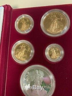 1995 États-unis Monnaie 10e Anniversaire Gold Bullion Set Proof
