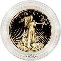 1995-w American Gold Eagle Proof 1/4 Oz 10 $ Pièce En Capsule