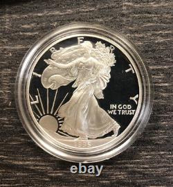 1995-w Preuve Aigle 10e Anniversaire Set Complet Avec 1995 W Silver Eagle