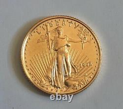 1998 Five Dollar American Gold Eagle Bu 1/10 Oz Early Dated Gold Bullion Coin