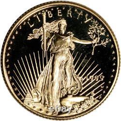 1999-w Preuve Américaine Gold Eagle (1/4 Oz) 10 $ Ogp