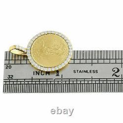 2.5ct Diamond American Eagle Liberty Coin Montage Pendentif 14k Or Jaune Plus