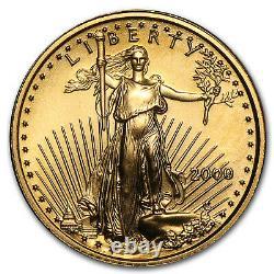 2000 1/10 Oz Gold American Eagle Bu Sku #7248