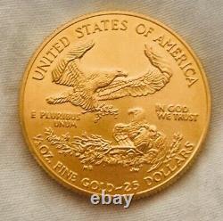 2003 Brilliant Uncirculated American Gold Eagle 1/2 Oz Gold Bullion Coin. 999