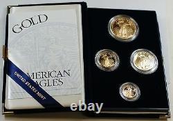 2003 Us Mint Américaine Gold Eagle Set Bullion Coins Proof Gem Age