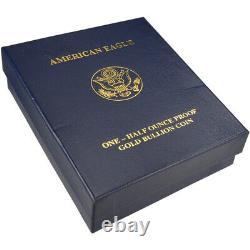 2010-w American Gold Eagle Proof 1/2 Oz 25 $ En Ogp