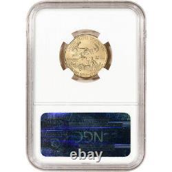 2013 Américaine Gold Eagle 1/4 Oz 10 $ Ngc Ms70 Communiqués Tôt