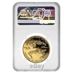 2014 W 50 Oz $ 1 Preuve D'or American Eagle Ngc Pf 70 Ucam