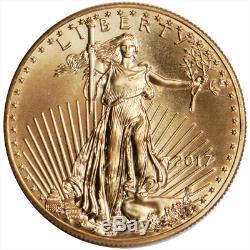 2017 $ 5 Or American Eagle 1/10 Oz Brillant Uncirculated