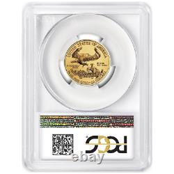 2018 10 $ Américain Gold Eagle 1/4 Onces. Pcgs Ms70 Fdoi Première Étiquette