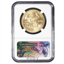 2018 50 $ Américain Gold Eagle 1 Oz Ngc Ms70 Ide Première Étiquette
