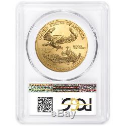 2018 50 $ Américain Gold Eagle 1 Oz Pcgs Ms70 Fdoi Première Étiquette