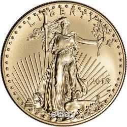 2018-w American Eagle Or Bruni 1 Oz $ 50 Ngc Ms70 Communiqués Tôt