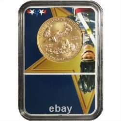 2018-w Bruni 50 $ Américain Gold Eagle 1 Oz Ngc Ms70 Early West Point De Presse