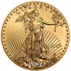 2019 $ 5 American Gold Eagle 1/10 Oz Brilliant Non Circulé