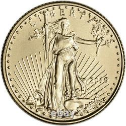 2019 Américaine Gold Eagle 1/10 Oz Pièce De 5 $ Bu En U. S. Mint Boîte-cadeau