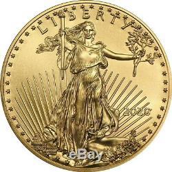 2020 1/10 Oz D'or American Eagle Coin Brillant Uncirculated En Stock